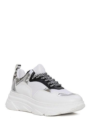 Sole Sisters Spor Ayakkabı Beyaz Yılan - Sibota Beyaz